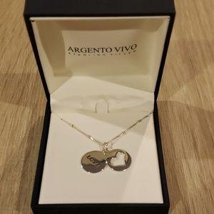 Argento Vivo Love & heart pendant necklace